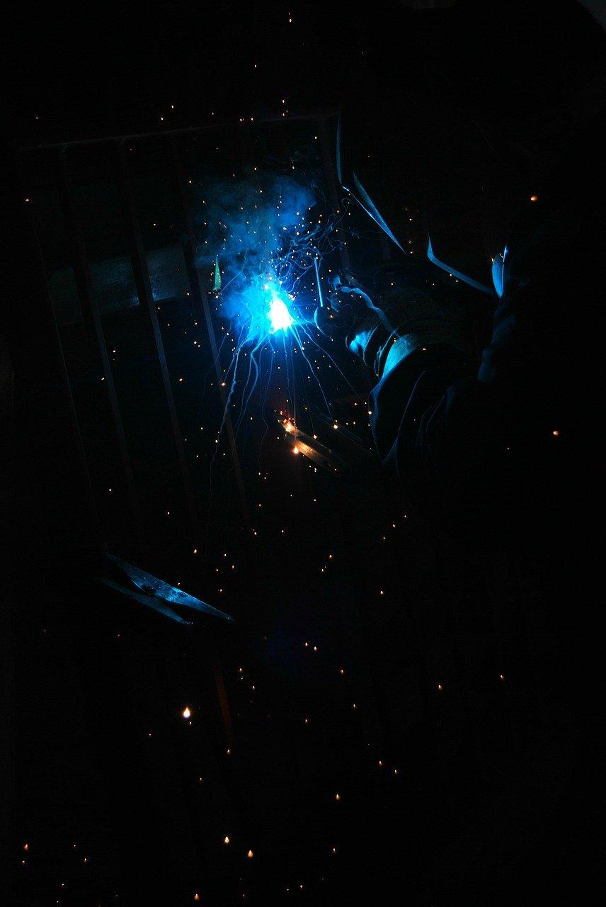 welding, sparks, arcs